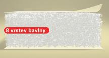 Futon bavlna (070x120 cm) 071.přírodní + potah v barvě 001.černá
